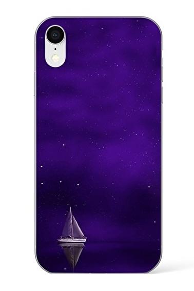Lopard Apple İphone Xr Kılıf Mor Gemi Kapak Renkli